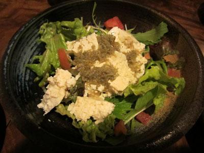 ジャコと豆腐のサラダ