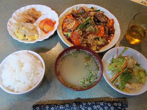 カルビ野菜炒め定食