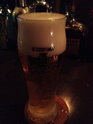 マスターからプレゼントされた生ビール