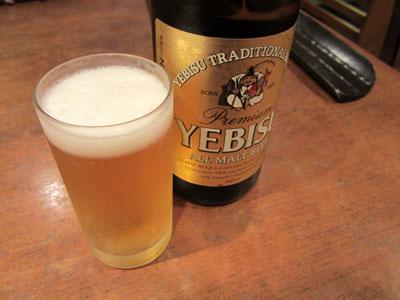 ヱビスビールでお疲れさん
