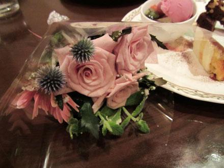 花をいただいちゃいました