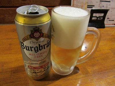 ノンアルコールビールで乾杯