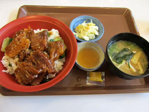 牛トロ丼とお新香セット