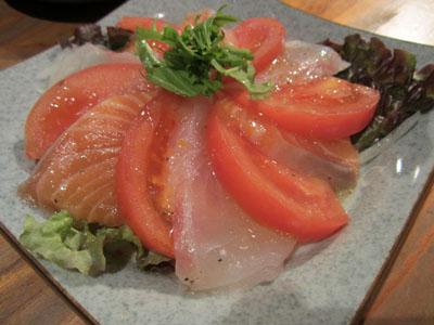 サーモンと白身魚のカルパッチョ