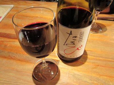 飲み物をワインに変更