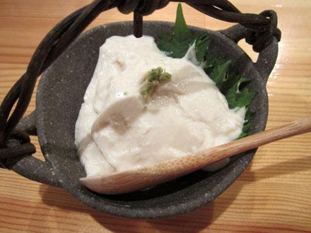自家製ごま豆腐