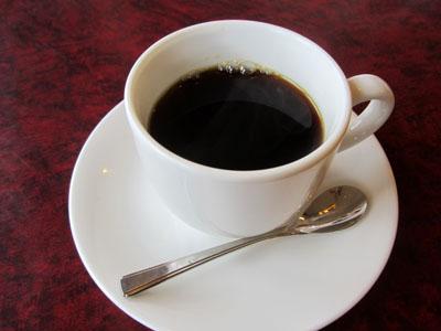 ランチドリンクにコーヒーを注文
