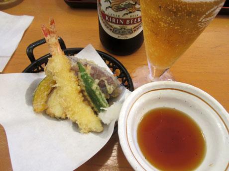 天ぷらで一杯やるため