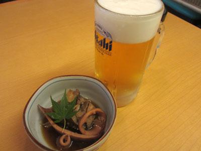 生ビールでお先に一杯