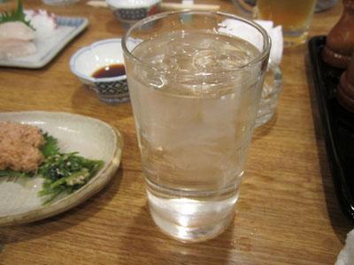 焼酎の水割りで乾杯