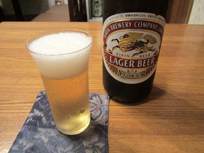 瓶ビールが乾杯