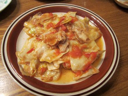 豚肉とキャベツのトマト炒め
