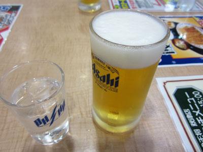 生ビールの小ジョッキで乾杯