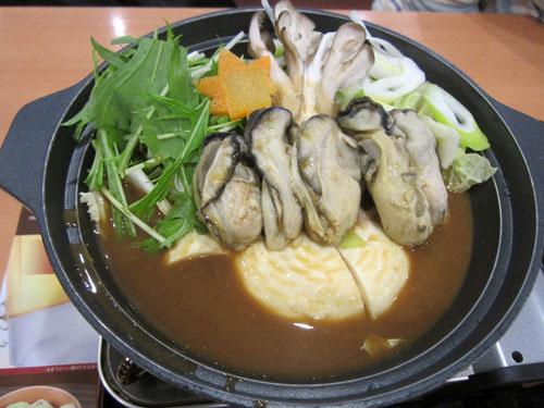 友人が頼んだ「牡蠣のあったか味噌鍋」