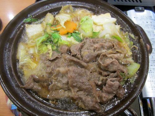 「牛すき焼き」の完成
