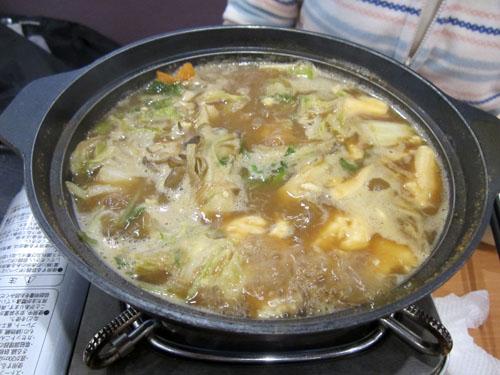 「牡蠣のあったか味噌鍋」も完成