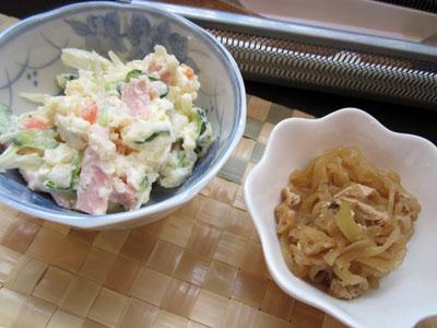 小鉢はポテトサラダと切干大根