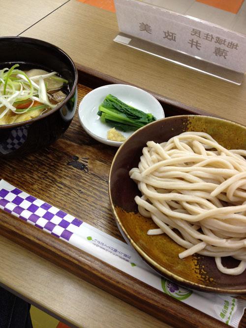 「野口製麺所」の「東村山地粉肉汁うどん」