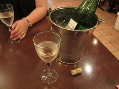 今年も白ワインで乾杯