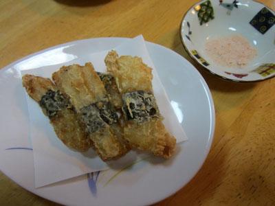 〆は「長芋の天ぷら」