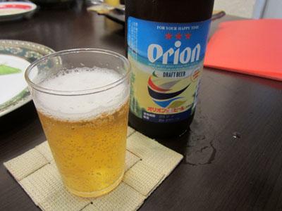 オリオンビールにチェンジ