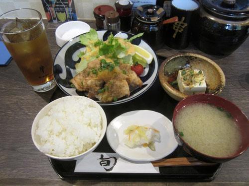 チキン竜田揚げおろしポン酢ランチ