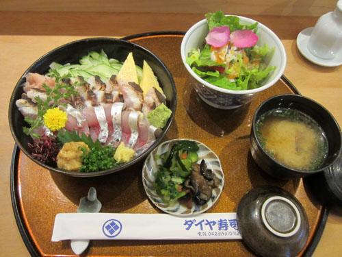 梅雨イサキ&アジ ハーフ&ハーフ丼セット