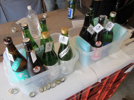 試飲で出された12本の日本酒