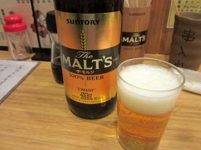 瓶ビールで乾杯