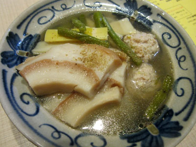 淡竹(はちく)と鶏つくねあっさり煮