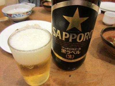 瓶ビールに変更