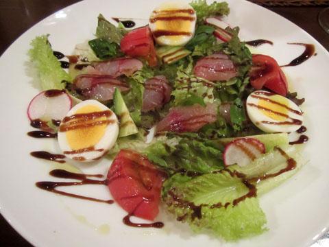 天然イサキと夏野菜のサラダ