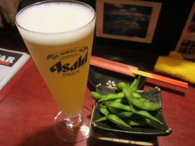 シークワサービールで乾杯