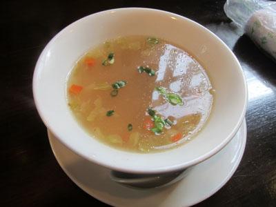 サービスで出してくれたスープ
