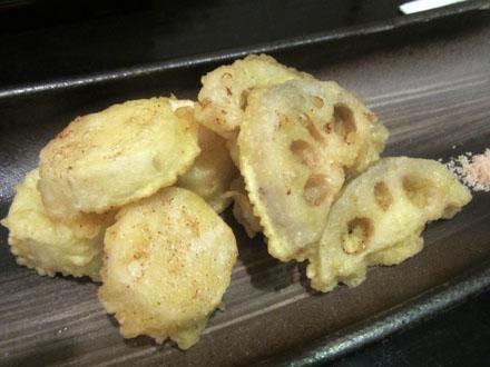 蓮根と長芋の天ぷら