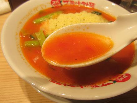 トマトたっぷりという感じのスープ