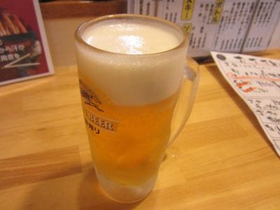 生ビールでお疲れちゃん