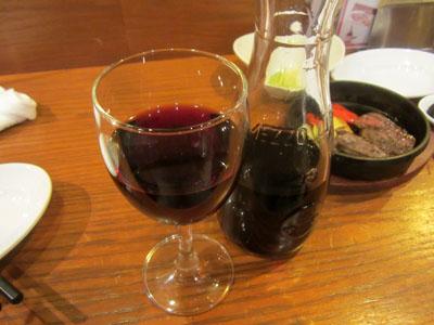 赤ワインに突入