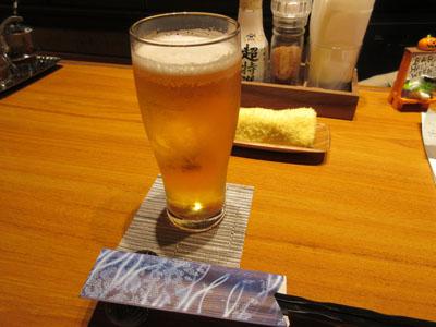 生ビールでお疲れさん