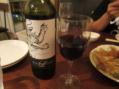 ワイン、ボトルで頼んじゃいました