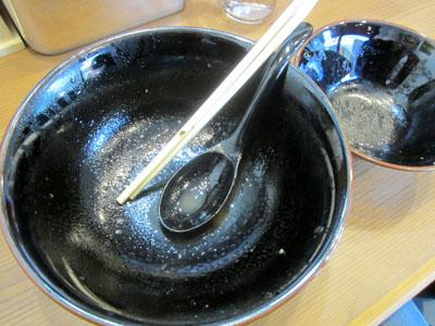 スープを飲み干して完食してしまった
