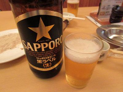 瓶ビールにチェンジ