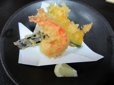 海老と野菜の天ぷら