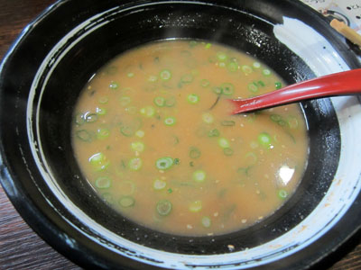 スープが残ったので…