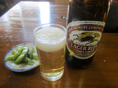 瓶ビールで一杯