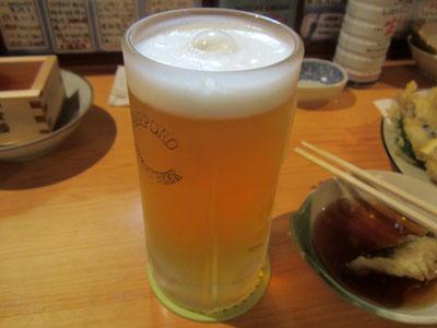生ビールにチェンジ