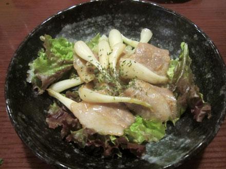 豚肉と島らっきょうの味噌炒め