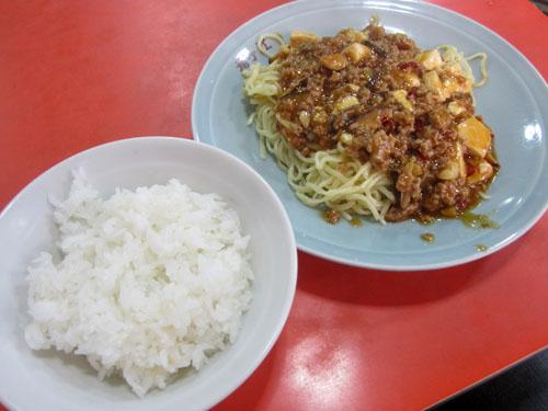 麻婆炒麺と小ライス