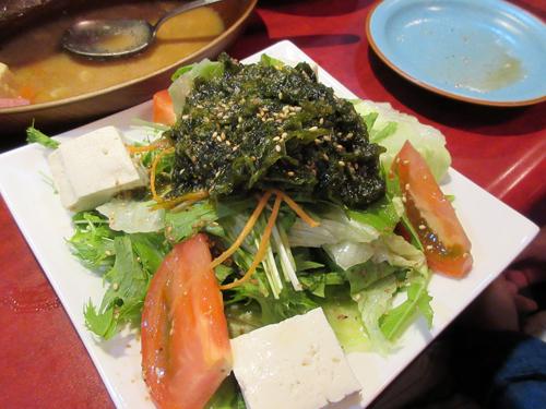 アーサと豆腐のサラダ