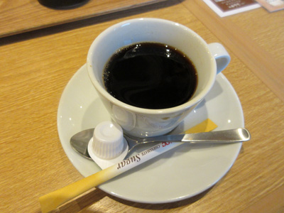 食後にまたコーヒー